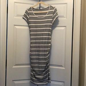 Isabel Maternity Size Medium Striped Dress